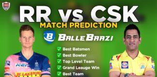 IPL 2020 - Match 4 RR vs CSK Ballebazi Team Prediction Today Match