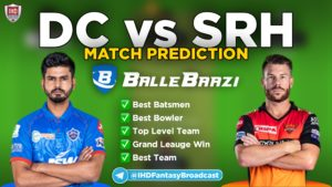 IPL 2020 - Match 11 DC vs SRH Ballebaazi Team Prediction Today Match