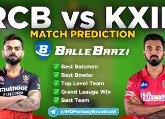 IPL 2020 - Match 5 KXIP vs RCB Ballebazi Team Prediction Today Match