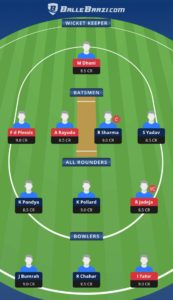 MI vs CSK Balebaazi Team For Grand League