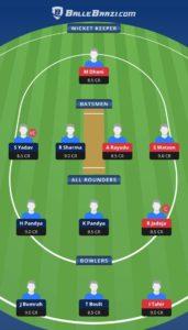 MI vs CSK Dream11 Team for small league