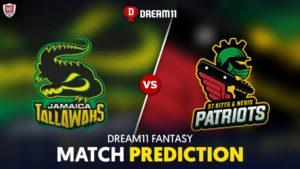 JAM vs SKN Dream 11 Team Prediction CPL 2020 (100% Winning)