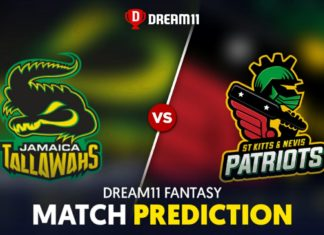 JAM vs SKN Dream 11 Team Prediction CPL 2020 (100% Winning)
