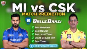 IPL 2020 - Match 1 MI vs CSK Ballebazi Team Prediction Today Match