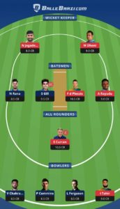 RR vs KXIP Balebaazi Team For Grand League