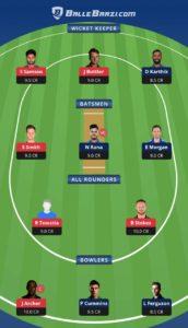 RR vs KKR Balebaazi Team For Grand League