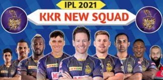 KKR's Retained Squad ahead of IPL 2021 Auction: Batsmen: Dinesh Karthik (C&WK), Eoin Morgan, Nitish Rana, Rahul Tripathi, Rinku Singh, Shubman Gill, and Tim Seifert All-rounders: Andre Russell and Sunil Narine Bowlers: Kamlesh Nagarkoti, Kuldeep Yadav, Lockie Ferguson, Pat Cummins, Prasidh Krishna, Sandeep Warrier, Shivam Mavi, and Varun Chakravarthy.