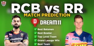 RR vs RCB Dream11 team prediction