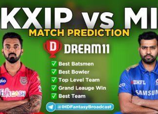 KXIP vs MI Dream11 team prediction