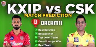 KXIP vs CSK Dream11 Team Prediction