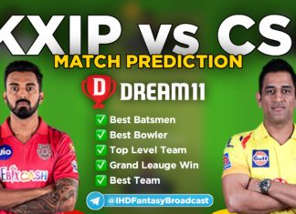 KXIP vs CSK Dream11 Team Prediction