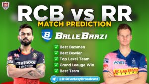 IPL 2020 - Match 15 RCB vs RR Ballebaazi Team Prediction Today Match