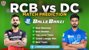 IPL 2020 - Match 19 RCB vs DC Ballebaazi Team Prediction Today Match
