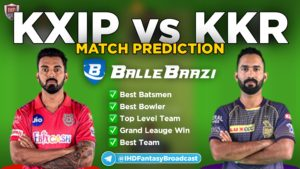 IPL 2020 - Match 24 KXIP vs KKR Ballebaazi Team Prediction Today Match