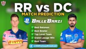 IPL 2020 - Match 23 RR vs DC Ballebaazi Team Prediction Today Match