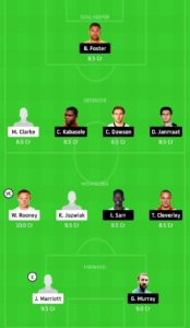 DER VS WAT TODAY DREAM11 FOOTBALL TEAM
