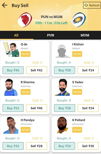 Exchange22 Buy sell players
