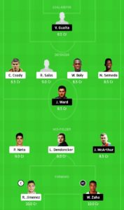 WOL VS CRY TODAY DREAM11 FOOTBALL TEAM