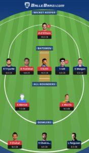 RCB vs KKR Balebaazi Team For Grand League