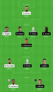 mun vs che today dream11 football match