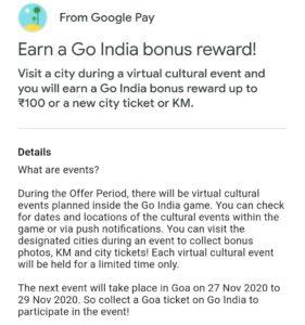 google pay go india goa event