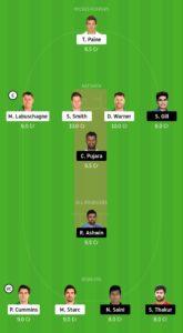 IND vs AUS Dream11 Team for grand league