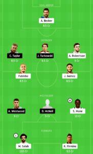 LIV VS BUR TODAY DREAM11 FOOTBALL TEAM