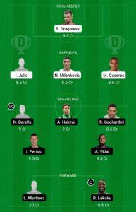 FIO VS INT TODAY DREAM11 FOOTBALL TEAM