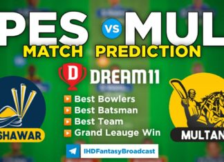 PES vs MUL Dream11 Team Prediction 5th Match PSL 2021 (100% Winning Team)
