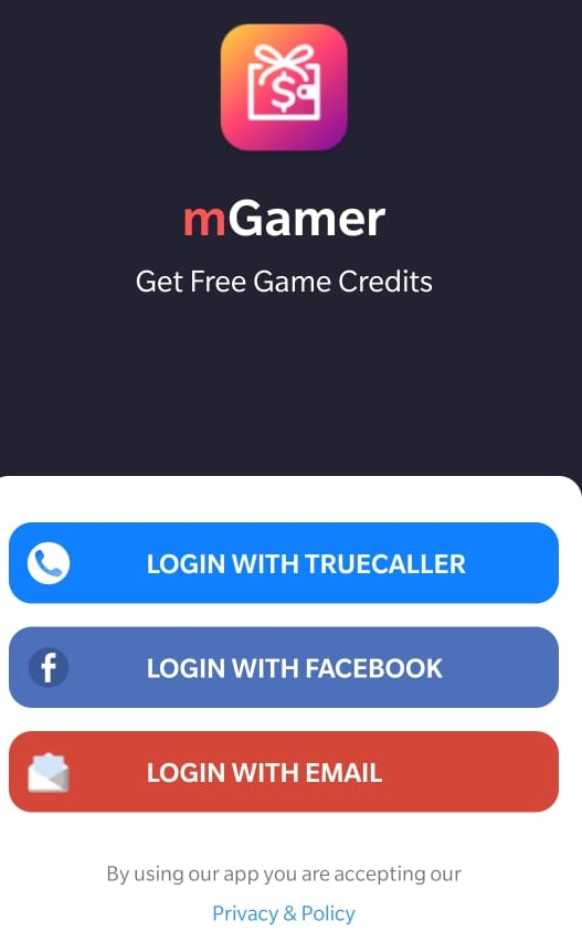 mGamer login with