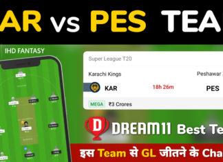 KAR vs PES Dream11 Team Prediction 13th Match PSL 2021 (100% Winning Team)