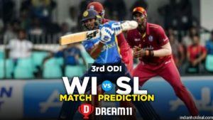 WI vs SL 3rd ODI Dream11 Team Prediction for Today's Match (100% Winning)