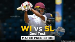 WI vs SL 2nd Test Dream11 Team Prediction for Today's Match (100% Winning)