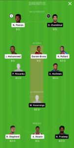 WI vs SL Dream11 Team for grand league