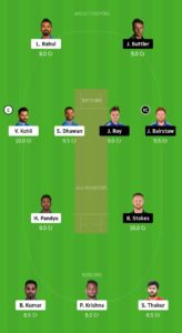 IND Vs ENG Dream11 Team for grand league