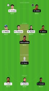 NZ Vs BAN Dream11 Team for grand league