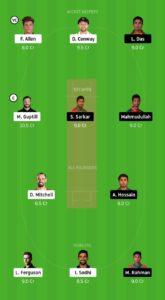 NZ Vs BAN Dream11 Team for small league
