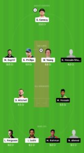 NZ Vs BAN Dream11 Team for grand league