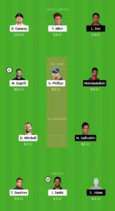 NZ Vs BAN Dream11 Team for small league