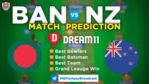 NZ vs BAN Dream11 Team Prediction 3rd ODI Match 2021 (100% Winning Team)