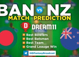 NZ vs BAN Dream11 Team Prediction 3rd ODI Match 2021 (100% Winning Team)