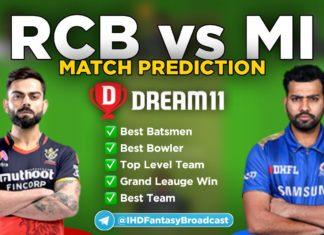 MI vs BLR Dream11 Team Prediction 1st Match IPL 2021 (100% Winning Team)