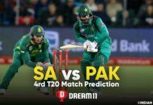 SA vs PAK Dream11 Team Prediction 4th T20 Match (100% Winning Team)