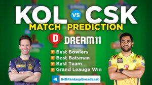KOL vs CSK Dream11 Team Prediction 15th Match IPL 2021 (100% Winning Team)