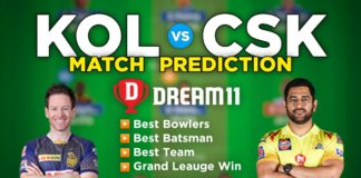 KOL vs CSK Dream11 Team Prediction 15th Match IPL 2021 (100% Winning Team)