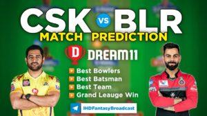 CSK vs BLR Dream11 Team Prediction 19th Match IPL 2021 (100% Winning Team)