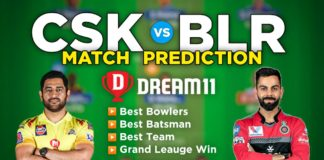 CSK vs BLR Dream11 Team Prediction 19th Match IPL 2021 (100% Winning Team)