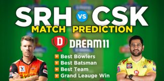 CSK vs SRH Dream11 Team Prediction 23rd Match IPL 2021 (100% Winning Team)