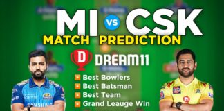 MI vs CSK Dream11 Team Prediction 27th Match IPL 2021 (100% Winning Team)