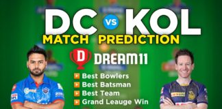 DC vs KOL Dream11 Team Prediction 25th Match IPL 2021 (100% Winning Team)